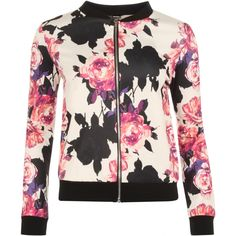 $30 Perrie Floral Print Bomber Jacket #wearall
