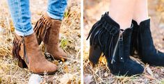 Love these fringe booties! Out of my size on Jane so I found them on Amazon!!
