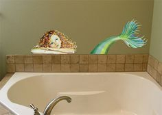 Wall Decal  Mermaid by MiniMurals on Etsy, $95.00