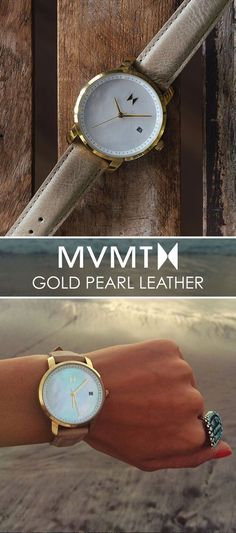 The best dressed always pay close attention to detail. For just $115, up your accessory game with this Gold Pearl Leather watch. Quality crafted minimalism meets elegant chic design. Let your style make a statement. Click the buy button to get it now!