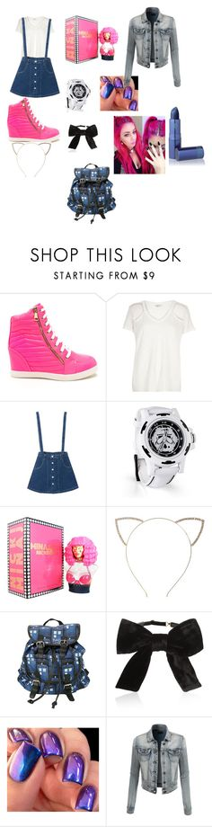 """randomness"" by babydeer194 ❤ liked on Polyvore featuring River Island, Nicki Minaj, Cara, Yves Saint Laurent, LE3NO and Lipstick Queen"