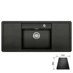 ALAROS 6S Blanco zlewozmywak granitowy 510x1160 deska czarna antracyt - 516556  http://www.hansloren.pl/Zlewozmywaki-granitowe/Zlewozmywaki-1-komorowe/BLANCO