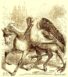 The Demon Shax as depicted in Collin de Plancy's Dictionnaire Infernal, 1863 edition