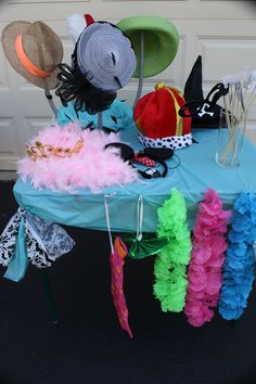 Prop table for photo booth
