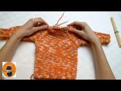 Stricken lernen * Super Easy Raglanpullover * Teil 3 * Raglanschräge * Halsausschnitt - YouTube