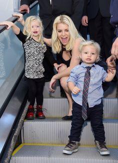 Jessica Simpson: Jessica Simpson mit ihren Kindern Maxwell und Ace