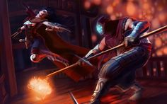 Vayne vs Jax Wallpaper League of Legends Danmaynard 1920×1200