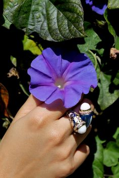 Blue & Gold Bypass Ring!  www.StyleAt30.com