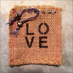 Thrifty By Design: Sample burlap gift bags in the works