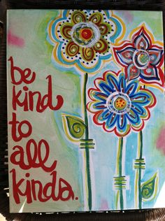 Words of Wisdom Painted Canvas by PetalsAndBrushes on Etsy