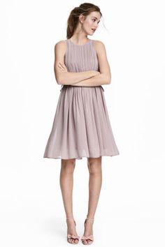 30€ Vestido plisado de gasa - Lila apagado - MUJER | H&M ES