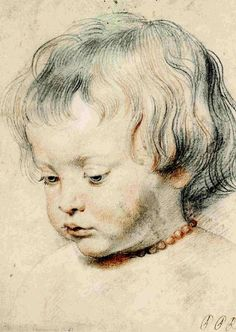 "Peter Paul Rubens Nicolaas Rubens Wearing a Coral Necklace ca. 1619 ""Peter Paul Rubens The Drawings"" Metropolitan Museum of Art Peter Paul Rubens, Trois Crayons, Pedro Pablo Rubens, Art Graphique, Renaissance Art, Painting & Drawing, Boy Drawing, Art History, Canvas Art"
