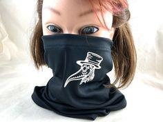 Plague Doctor gaiter mask black mask face mask Raven mask | Etsy Raven Mask, Crow Mask, Doctor Mask, Plague Doctor, Black Mask, Neckerchiefs, Baseball Hats, Face, Etsy Shop