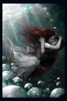 Google+ Fantasy Love, Fantasy World, Hans Christian, Story Inspiration, Character Inspiration, She Wolf, Portraits, Beautiful Artwork, Under The Sea