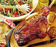 Grilliertes Lammgigot Tandoori Chicken, Grilling, Bbq, Pork, Turkey, Meat, Ethnic Recipes, Salad, Kitchens