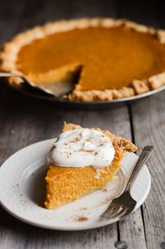 Pumpkin Pie - Buttered Side Up | Thanksgiving / holiday dessert recipes