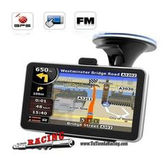 Navegador GPS 4.3 Pulgadas para Coche Memoria de 4GB con Bluetooth -- 52,24€