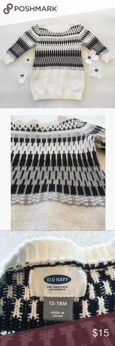 Old Navy sweater Black/White/gray and sparkles (baby girl) Very soft sweater. Excellent condition Old Navy Shirts & Tops Sweaters