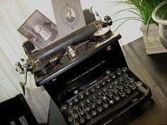 vintage photo display vintage typewriter