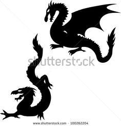 dragon head silhouette - Google Search