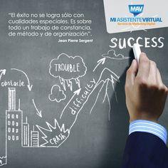 Las cualidades son importantes pero, también necesitas una estrategia para saber cómo llegar a obtener el éxito :)  #Motivación #MiAsistenteVirtual #Emprendedore