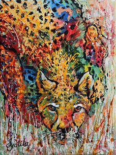 Cheetah Stalking 18x24 Acrylic