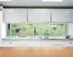 Love the clean lines and lightness of this kitchen The Ultimate Casement direct glaze window is by Marvin Windows and Doors. French Casement Windows, Best Kitchen Sinks, Marvin Windows, Design Moderne, Cuisines Design, Window Design, Patio Doors, Windows And Doors, Kitchen Lighting