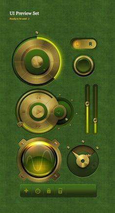 UI Preview set by Eugene Zolotco, via Behance