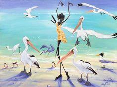 Judy Prosser   Pelican Girl Fine Art