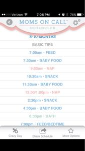 Moms on Call 8 Month Schedule - April 2015 Babies 8 Month Old Schedule, Baby Schedule, Sleep Schedule, 8 Month Olds, 1 Year Olds, Moms On Call, Taking Care Of Baby, Crazy Day, 8 Months