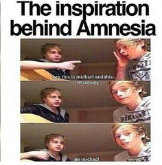 "100℅ true!!!<<<too funny love this song tho <<Luke's face is like : ""I'm so done with Michael and his nonsence"