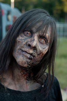 The Walking Dead Season 4 makeup. Walking Dead Season 4, Walking Dead Zombies, Fear The Walking Dead, Zombie Art, Zombie Makeup, Sfx Makeup, Dead Makeup, Halloween Zombie, Halloween Makeup