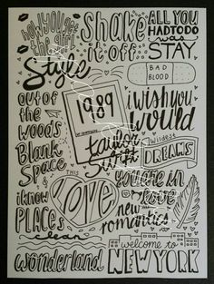 1989 doodle collage