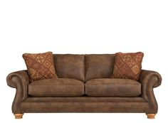 Attention to detail is apparent with this Canyon Ridge microfiber sofa. #myrfholiday #sweepsentry