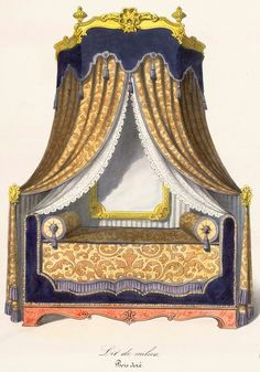 The bed is often decorated with curtain