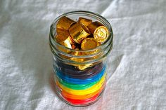 Landee See, Landee Do: Rainbow Roundup (mason jar with rainbow Twizzlers and Rolos)