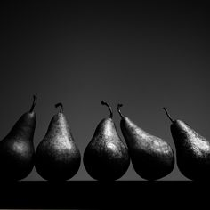 Pears in black and white