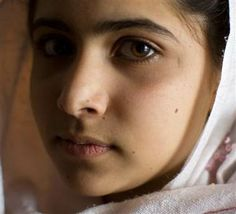 Malala Yousafzai, a 14-year-old Pakistani activist who won international acclaim for her work promoting peace