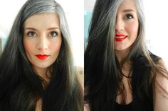 Femme cheveux blancs 30 ans - Hair and beauty - Hair Color 02 Grey Hair Don't Care, Long Gray Hair, Silver Grey Hair, Short Hair Styles, Natural Hair Styles, Transition To Gray Hair, Pelo Natural, New Hair, Hair Inspiration