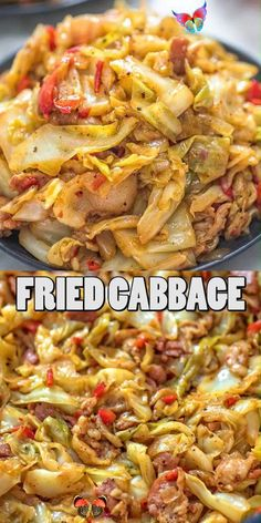 The Best Fried Cabbage This Fried Cabbage recipe is insanely good! Made with bacon, onion, bell pepper, and a touch of hot sauce, it is easy to make, simple, and comes out perfect every time! FOLLOW Cooktoria for more deliciousness! #cabbage #onepot #bacon #lowcarb #keto #ketosis  #dinner #lunch #cooktoria<br> Easy Healthy Recipes, Vegetable Recipes, Easy Dinner Recipes, Easy Meals, Vegetarian Recipes Dinner, Low Carb Recipes, Fast And Easy Recipes, Keto Recipes With Bacon, Hot Sausage Recipes