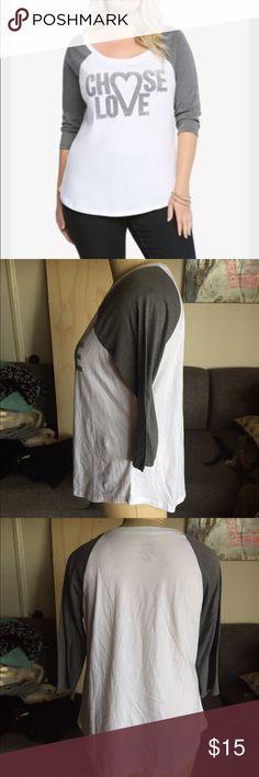 Torrid Raglan baseball tee Torrid Baseball Raglan tee 3/4 sleeves. Jersey 2x. Brand new never worn!!! torrid Tops Tees - Long Sleeve