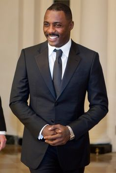 Idris Elba Arrives for State Dinner with UK Prime Minister