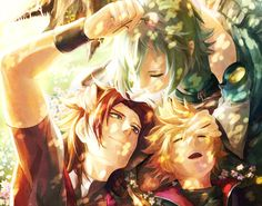 Good times, before Xehanort happened: Terra, Ventus and Aqua.