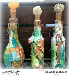 Altered Bottle by Solange Marques with G45 Voyage Beneath The Sea