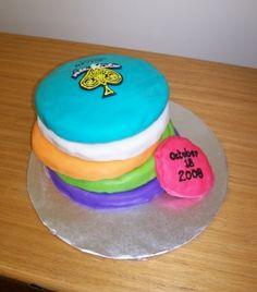 disc golf cake. Scroll down