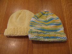Basic Baby Newborn Hat. Category 4 Worsted Weight (Bernat CottonTots); Size 7 Circulars or DPNs