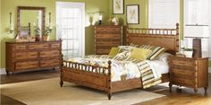 "Need a tropical retreat? Check out this ""Palm Bay"" bedroom set from Magnussen Home"