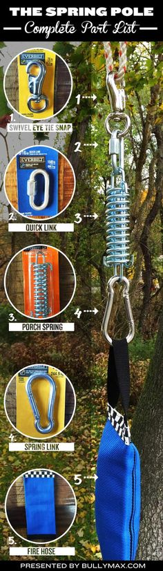 How to build a spring pole for dogs (a great exercise tool for bulking up scrawny dogs). #bullymax #pitbull #pitbulls #dogs