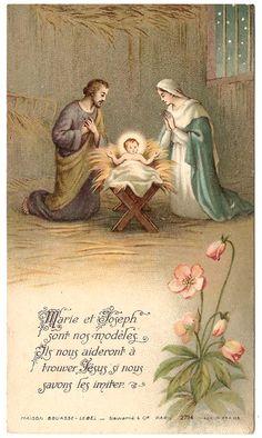 Christmas Holy Family Nativity Manger Scene by 12StarsVintage