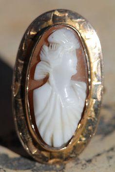 Antique 10k gold cameo ring #cameo #Gold #antique